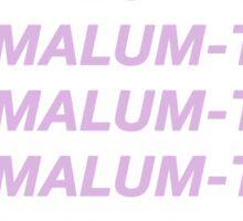 MALUM TRASH Sticker