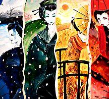 Geishas of the Season by debzandbex