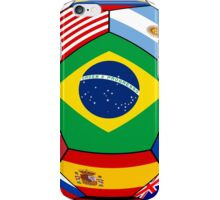 Ball With Various Flags iPhone Case/Skin