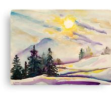 Misty Winter Afternoon In The Alps Canvas Print