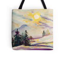 Misty Winter Afternoon In The Alps Tote Bag