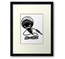 Mic-Check Framed Print