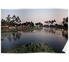 Sunset at the Sacred Lake in Candidasa Poster