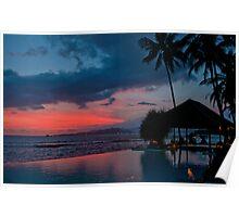 Sunset at Lotus Cottages, Bali Poster