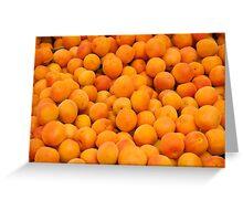 Fresh Organic Apricots  Greeting Card