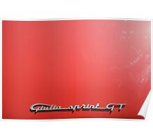 Alfa Romeo Giulia Sprint GT Badge 2 Poster
