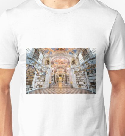 Inside the abbey library of Admont Unisex T-Shirt