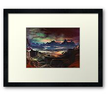 Firewalk Canyon Framed Print
