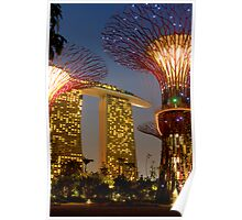 Supertrees and Marina Bay Sands Poster