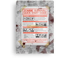 Zombie Survival - Quick Start Guide Metal Print