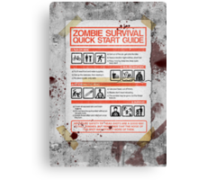 Zombie Survival - Quick Start Guide Canvas Print
