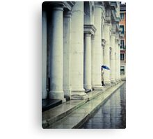 Blue umbrella Canvas Print