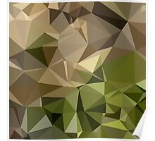 Burlywood Brown Abstract Low Polygon Background Poster