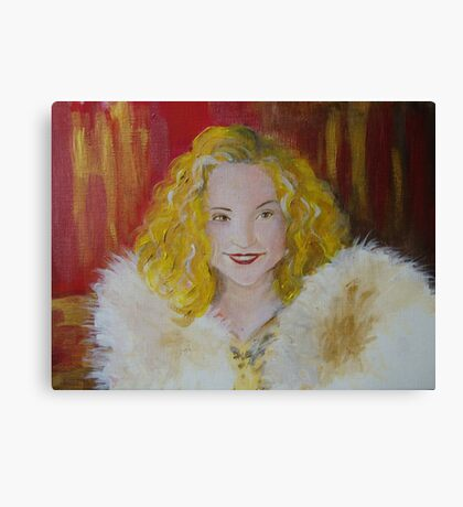 The Movie Star (The Golden Girl) Canvas Print