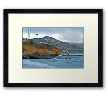 Cloudy Day on Treasure Island Framed Print