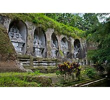 Ancient stone-hewn Hindu altars Gunung Kawi, Gianyar Regency, Bali, Indonesia Photographic Print