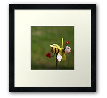 Don't worry, BEE happy Framed Print