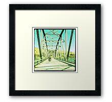 Crossing the Bethanga Bridge Framed Print