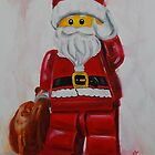 father Christmas - lego style by Deborah Cauchi