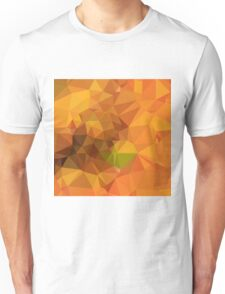 Deep Carrot Orange Abstract Low Polygon Background Unisex T-Shirt