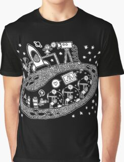 Asteroid Slave Labor Mining Camp Love Graphic T-Shirt