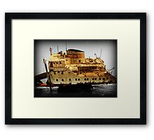 Rust and Decayed Ship Framed Print