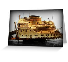 Rust and Decayed Ship Greeting Card