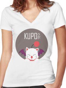 Kupo!! Women's Fitted V-Neck T-Shirt