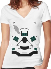 Master Chief Halo 4 Armour Women's Fitted V-Neck T-Shirt