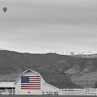 Hot Air Balloon Boulder Flag Barn and Eldora BWSC by Bo Insogna
