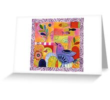 Indigo Bird Greeting Card
