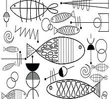Mid-Century Modern Fish by Gail Gabel, LLC