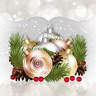 Season's Greetings Holiday Card With Ornaments by Moonlake