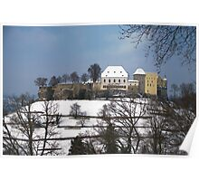 Lenzburg Castle in the snow 2 Poster