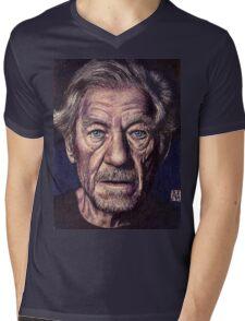 Sir Ian Mckellen Mens V-Neck T-Shirt