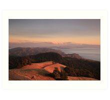 Mt Tamalpais, Marin County Art Print