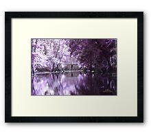 Enchanting Lockridge Bridge Framed Print