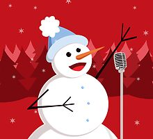 Happy Singing Snowman Christmas  by Boriana Giormova