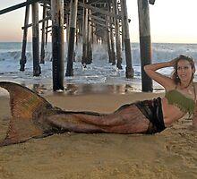 Mermaid Meridian under the Pier by AlynnArts