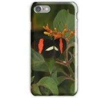 Red, White, Black butterfly  iPhone Case/Skin