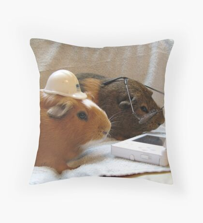Pigs at Work Throw Pillow