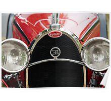Red Bugatti Grille Poster