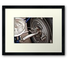 Bugatti Wheel & Headlight Framed Print