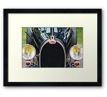 Bugatti Grille Marque2 Framed Print