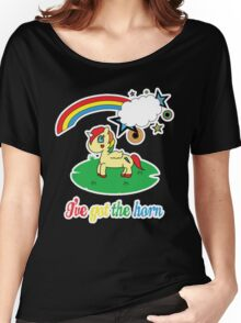Cheeky Unicorn  - I've Got the Horn (Adult Version) Women's Relaxed Fit T-Shirt