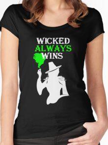Wicked Always Wins (b&w) Women's Fitted Scoop T-Shirt