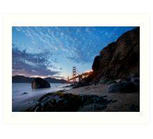 Golden Gate from Marshall Beach Art Print