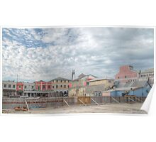 Bay Street (View from Prince George Wharf) in Downtown Nassau, The Bahamas Poster