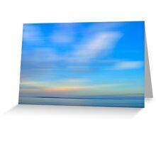 Sun set Blue Greeting Card