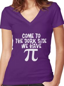 Come to The Dork Side Women's Fitted V-Neck T-Shirt